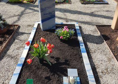 Azul Imperial aus Brasilien auf dem Friedhof Ostfildern Nellingen