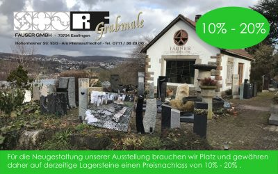 10 % – 20 % Rabatt auf Lagerware